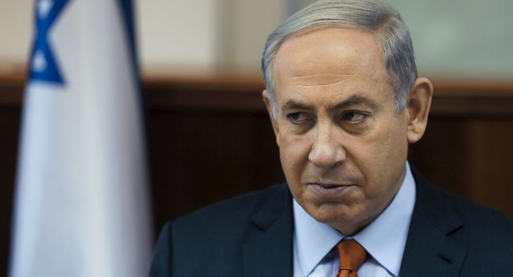 Israel's Prime Minister Benjamin Netanyahu attends the weekly cabinet meeting at his office in Jerusalem June 28, 2015