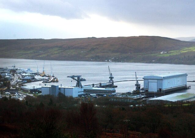 A view of HMNB Clyde located at Faslane, Scotland, home to Trident nuclear submarines