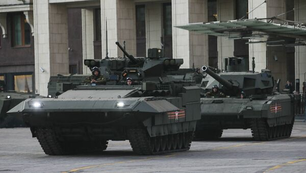 T-15 infantry combat vehicle and T-14 tank with the Armata Universal Combat Platform - Sputnik International
