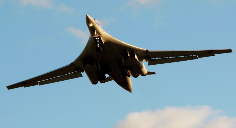 Russia's strategic bomber Tu-160 or White Swan