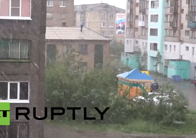 Russia: Snow in SUMMER? Northern town of Vorkuta hit