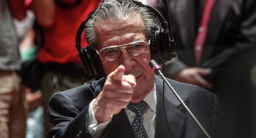 Guatemala's former dictator Efrain Rios Montt