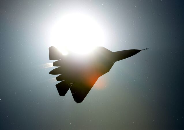 A PAK FA T-50 fighter jet performs a demo flight at the MAKS 2013 International Aviation and Space Salon in Zhukovsky.