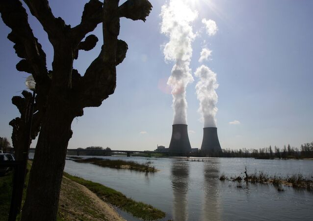 General view of the Belleville-sur-Loire's nuclear plant in France.