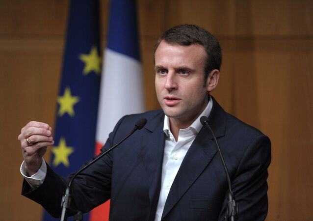 Former French Economy Minister Emmanuel Macron
