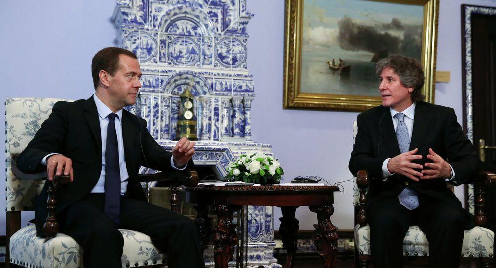 Dmitry Medvedev and Amado Boudou