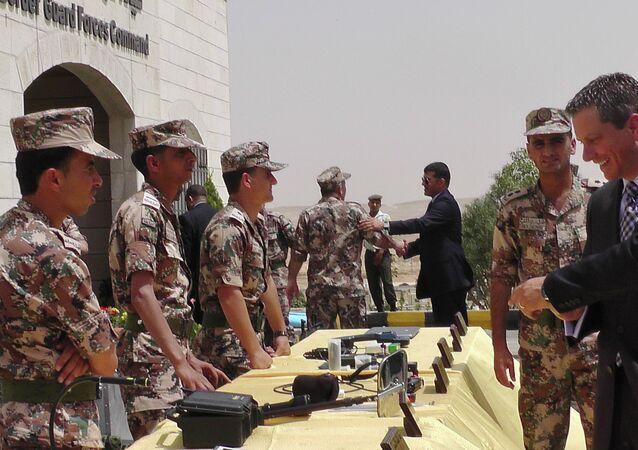 Members of the Jordanian border guard