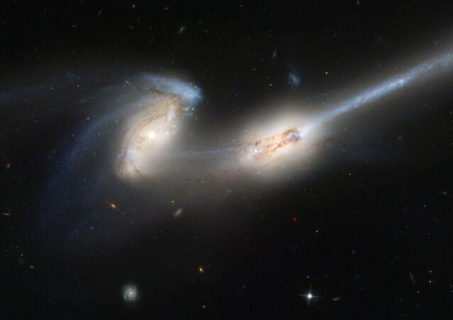 Mice Galaxies, 300 million light-years away.