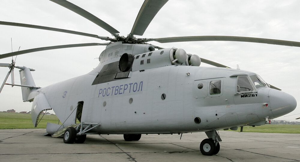 Versatile, wide-body caro helicopter Mi-26T