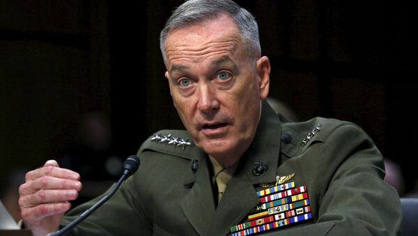 Marine Corps General Joseph Dunford testifies during the Senate Armed Services committee nomination hearing to be chairman of the Joint Chiefs of Staff on Capitol Hill in Washington, July 9, 2015 - Sputnik International