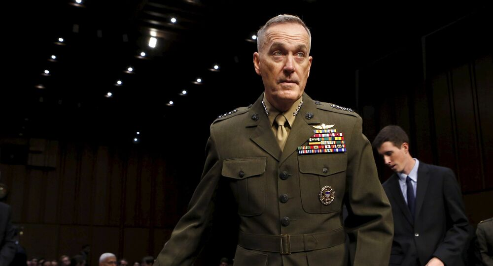 Marine Corps Gen. Joseph Dunford arrives at the Senate Armed Services committee nomination hearing to be chairman of the Joint Chiefs of Staff on Capitol Hill in Washington July 9, 2015