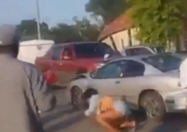 Fight Interrupted by Dramatic Hit-and-Run