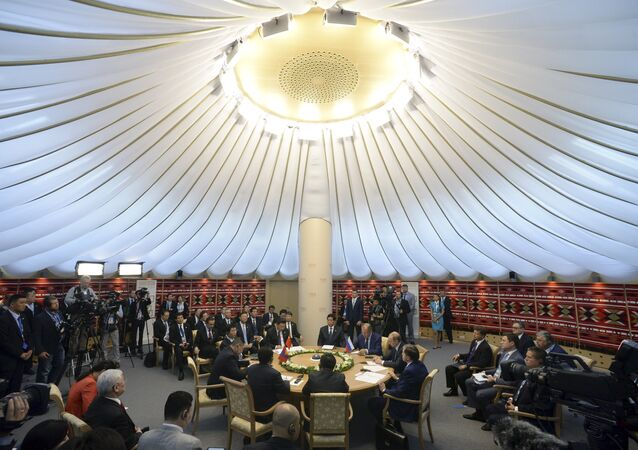 Friday marked the conclusion of the summit of the Shanghai Cooperation Organization in Ufa, Russia. Commenting on the growing role of the organization in regional security affairs, Expert.ru columnist Gevorg Mirzayan explained that the SCO's importance and relevance are increasing with each passing year, along with the tasks entrusted to it.  Read more: http://sputniknews.com/analysis/20150711/1024508880.html#ixzz3fbt9AUNK