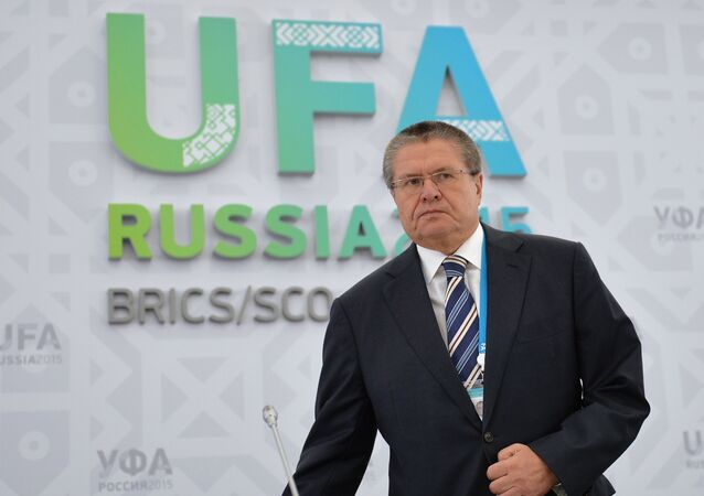 Minister of Economic Development of Russia Alexei Ulyukaev at his briefing The Prospects of Economic Cooperation with Regards to BRICS and the SCO