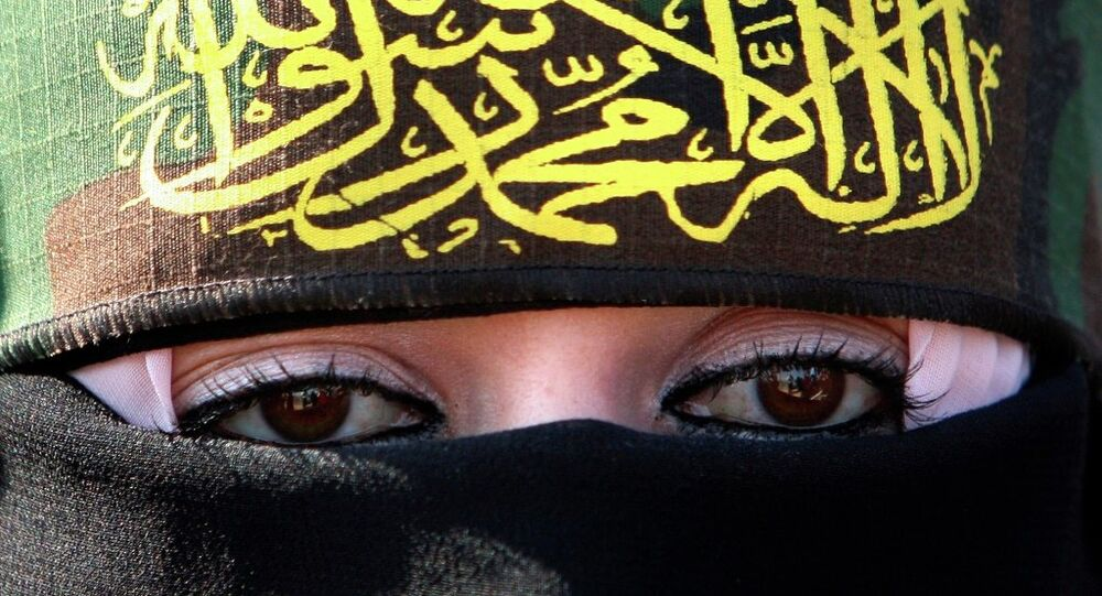 A woman supporting Islamic Jihad