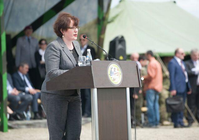 Georgian Defense Minister Tinatin (Tina) Khidasheli