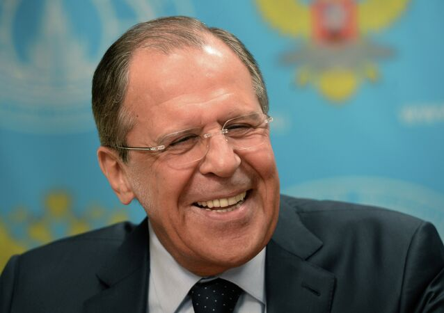 When it comes to cracking a good joke, Russian Foreign Minister Sergei Lavrov is as smooth as silk.