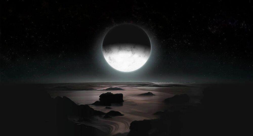 Pluto By Moonlight