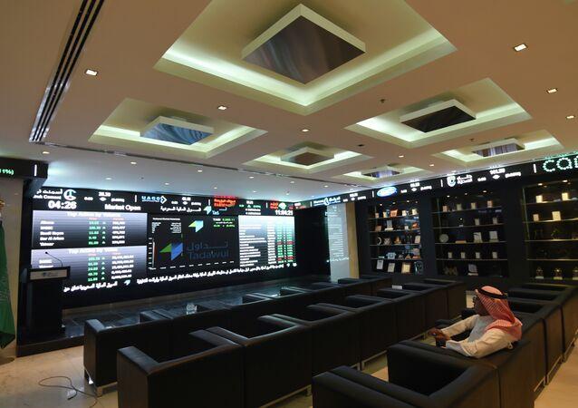 A Saudi investor monitors the stock exchange at the Saudi Stock Exchange, or Tadawul, on June 15, 2015 in the capital Riyadh