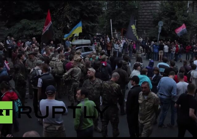 Ukraine: Right Sector Mukachevo attack brings supporters to central Kiev