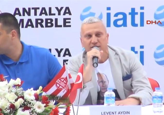 Eto'o Antalyaspor'a presentation.