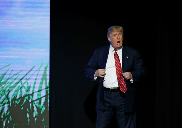 Republican presidential candidate Donald Trump speaks at FreedomFest Saturday, July 11, 2015, in Las Vegas.