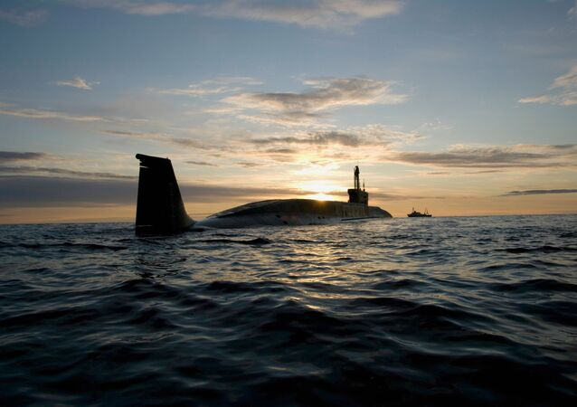 A Russian Borei-class submarine. File photo