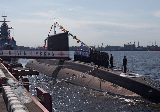 A file photo of the Stary Oskol submarine