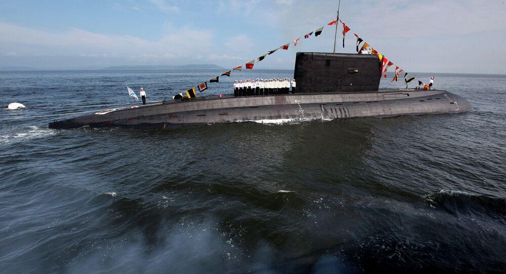 Parade rehearsal for Russian Navy Day in Vladivostok