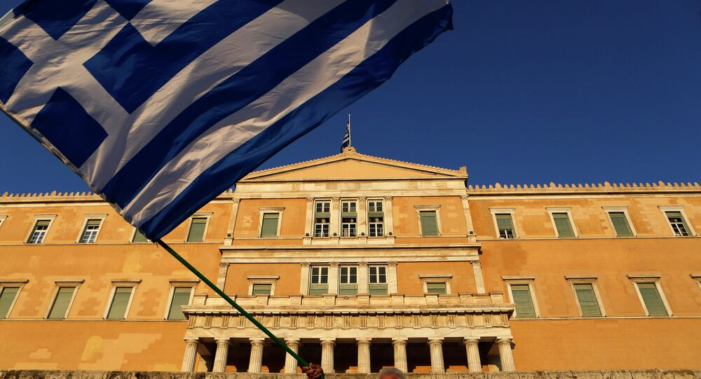 The building of the Greek Parliament