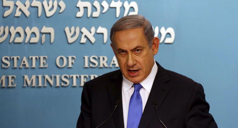 Israel's Prime Minister Benjamin Netanyahu speaks during a news conference in Jerusalem July 14, 2015