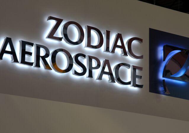 Logo of French aerospace equipment and systems company Zodiac Aerospace
