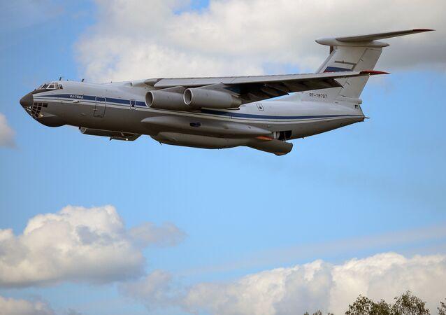 The Ilyushin-76 heavy military cargo plane