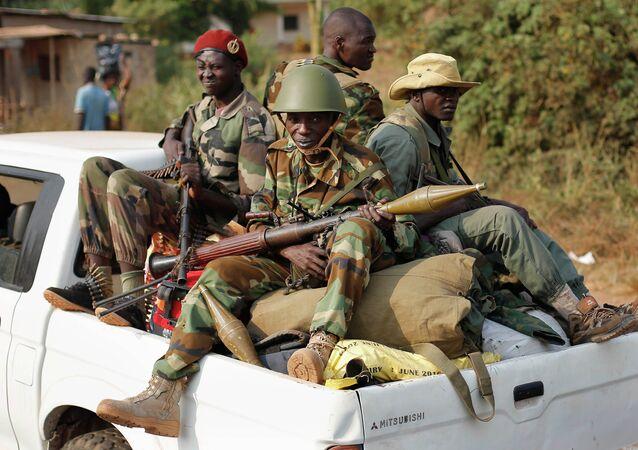 Seleka Muslim militias drive through Bangui, Central African Republic