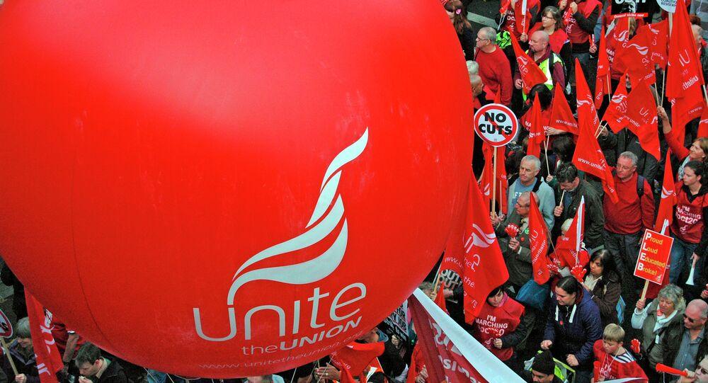 Trades Union Congress protest in London