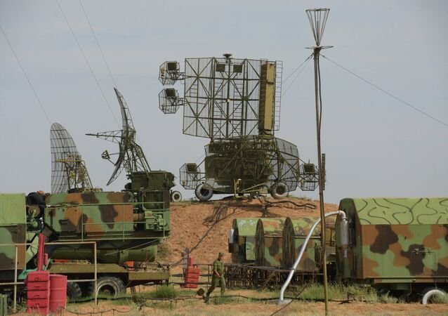 S-300PM missile system deployed at the Ashuluk firing range for the Air Force and Air Defense Force tactical exercise.