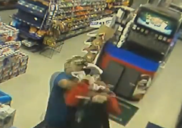 A Mansfield firefighter takes down an armed robber