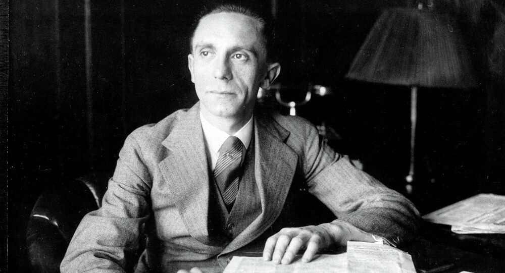 Joseph Goebbels, Third Reich Commissioner for Radio and Propaganda, is shown in the 1930s.