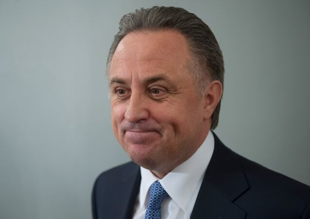 Russian Minister of Sport Vitaly Mutko before a Kremlin meeting of the Presidential Council on Physical Fitness and Sports
