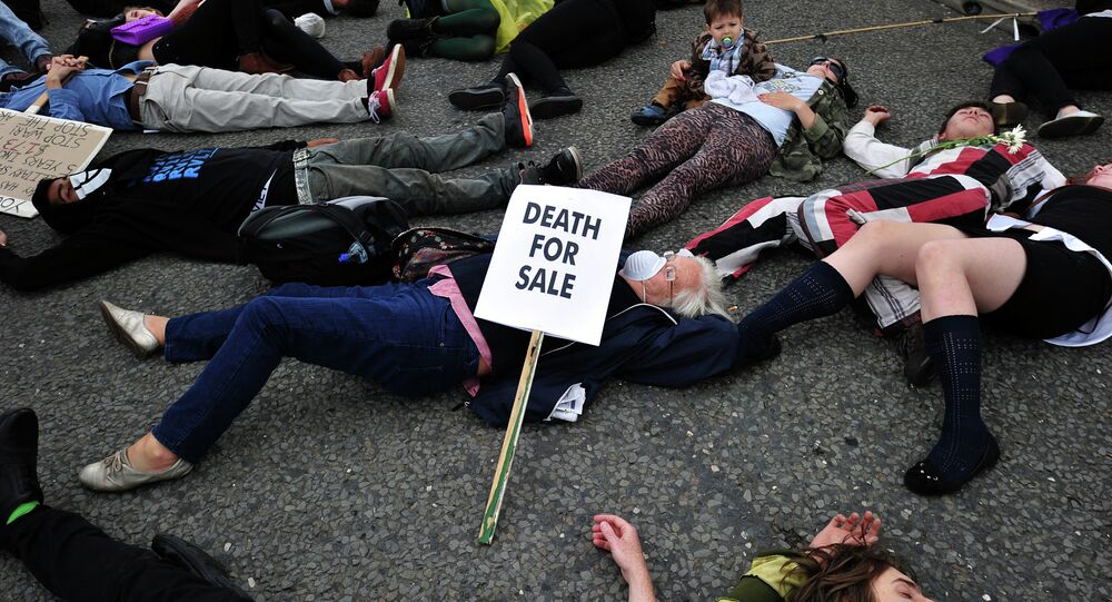 Arms trade protest