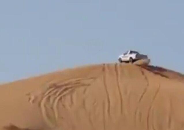 Car versus landscape.