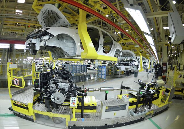 US auto giant General Motors Buick cars being assembled at Wuhan auto plant in Wuhan, central China's Hubei province