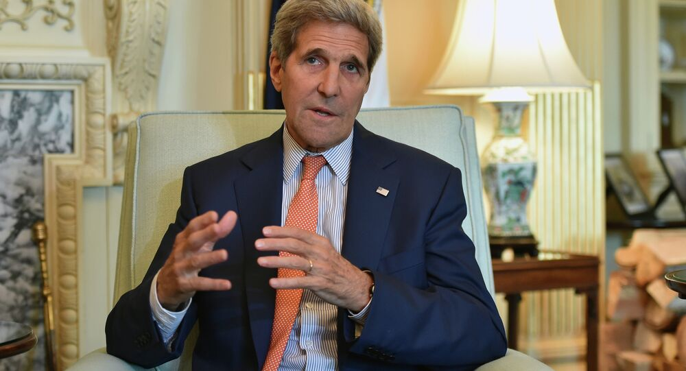 US Secretary of State John Kerry answers a question after his meeting with the Saudi foreign Minister Adel al-Jubeir at the Department of State in Washington, DC on July 16, 2015