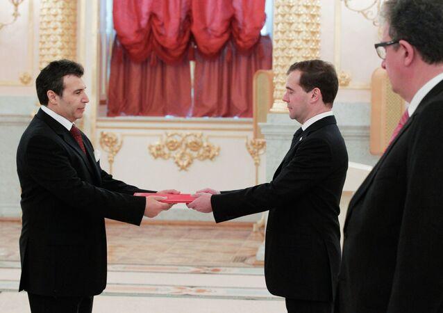 Dmitry Medvedev receives credentials from ambassadors