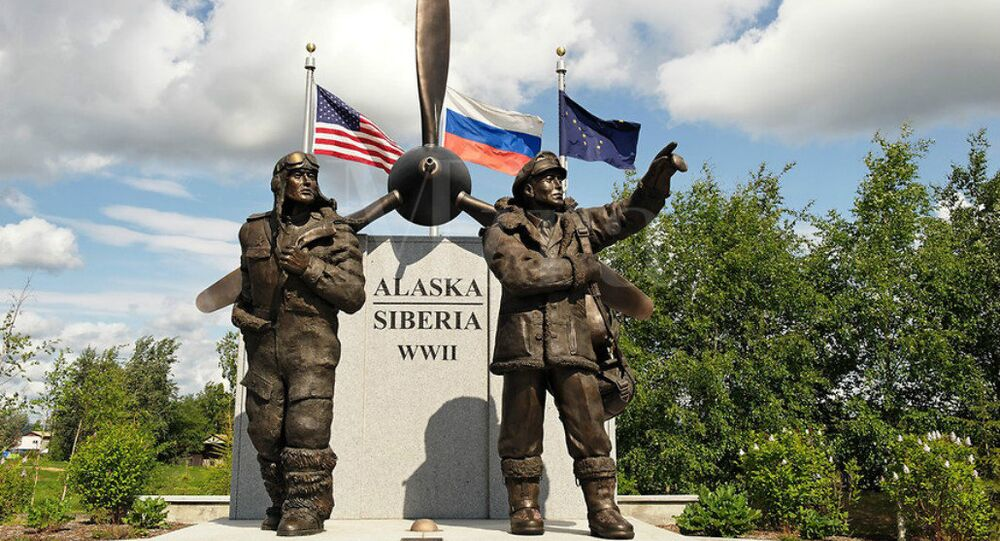 Alaskan Memorial devoted to the ALSIB air route, through which nearly 8,000 US aircraft were transferred to the Soviet Union during the Second World War