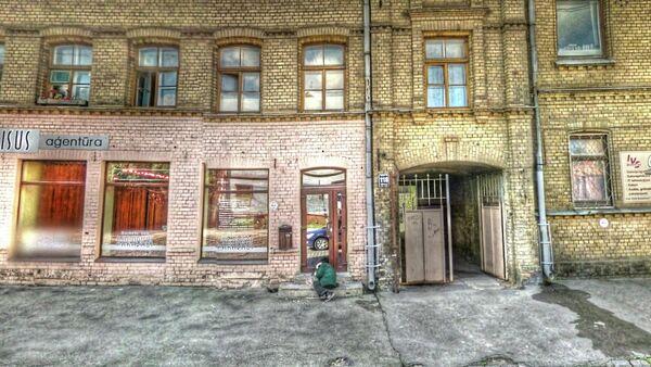 Riga, Latvia. Original image from Google Street View - Sputnik International