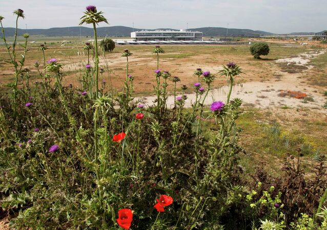 In this May 11, 2011 file photo, the new airport terminal is seen in Ciudad Real, Spain.