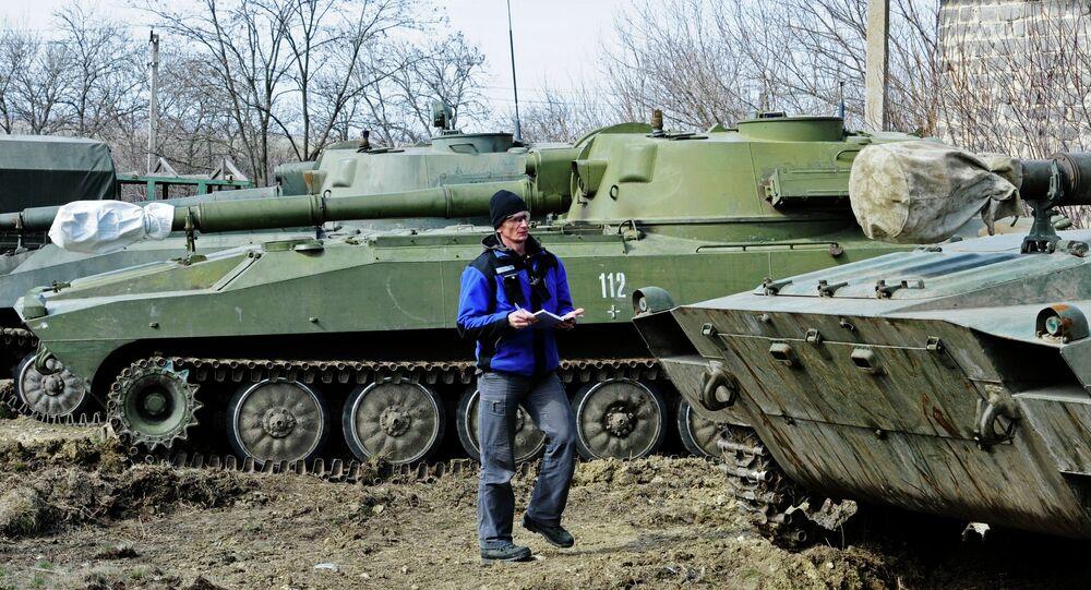 OSCE monitors heavy artillery withdrawal in Donetsk Region