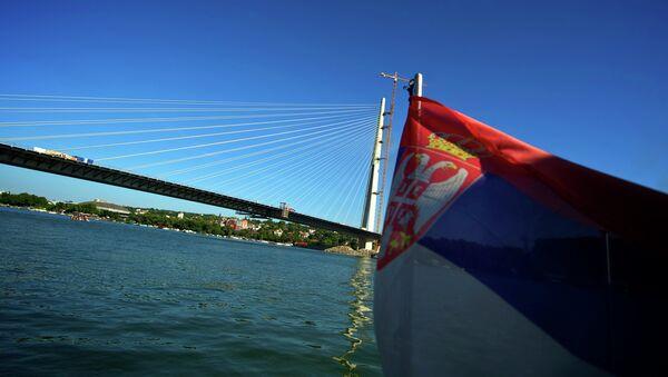 View of the new Sava River Bridge in Belgrade - Sputnik International