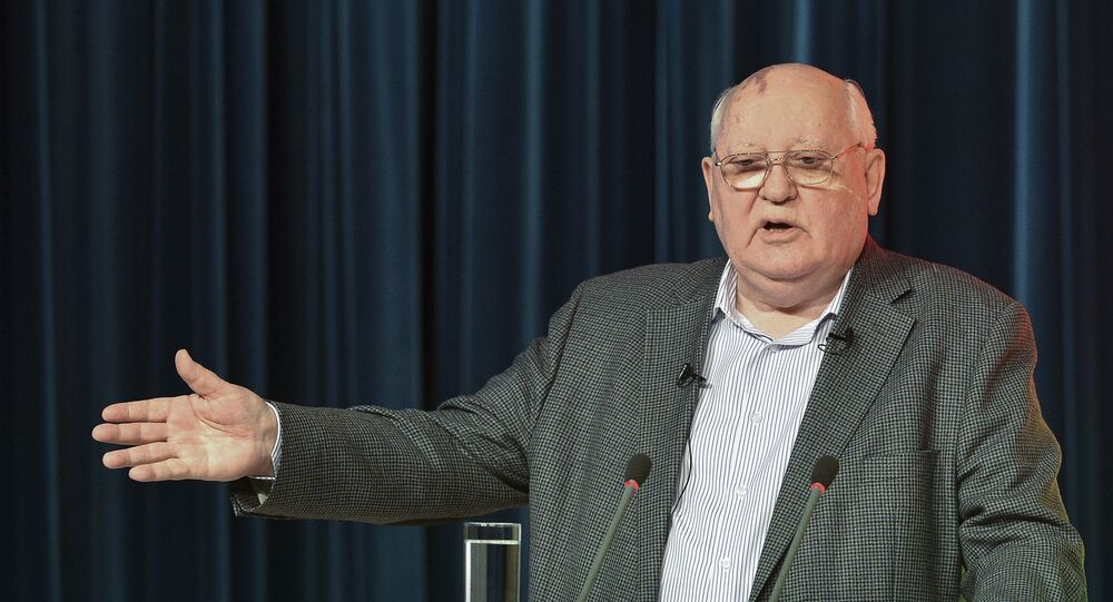 The first president of the USSR Mikhail Gorbachev
